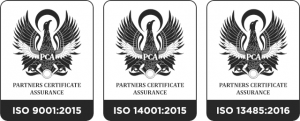 ISO 9001:2015, ISO14001:2015, ISO 13485:2016